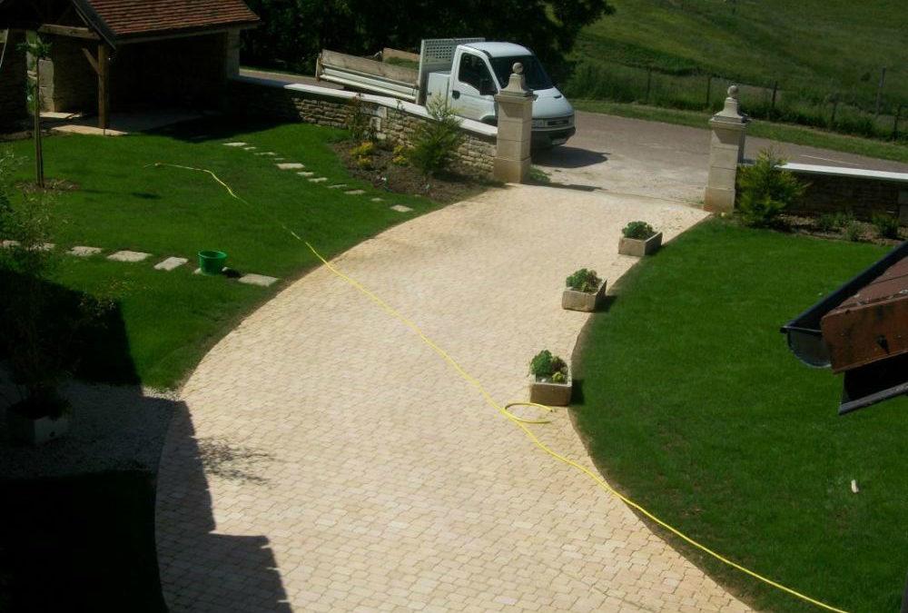 Création d'un chemin d'accès en pavé à Dijon