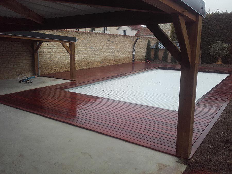Aménagement des abords d'une piscine à Dijon