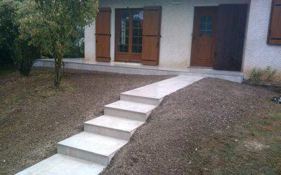 Réfection d'un accès à un pavillon
